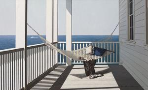 Hammock with Beach Towel by Zhen-Huan Lu