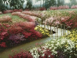 Monet's Flower Garden by Zhen-Huan Lu