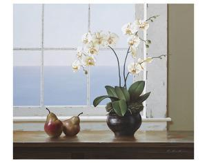 Orchids with Pears by Zhen-Huan Lu