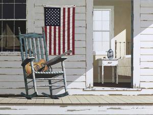 Rocking Chair with Guitar by Zhen-Huan Lu