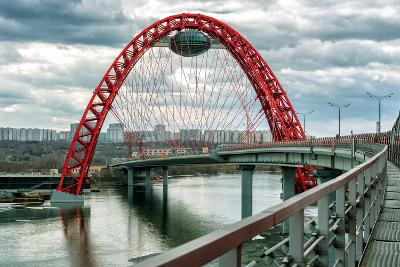 Zhivopisny Bridge over the Moskva River, Moscow-scaliger-Photographic Print