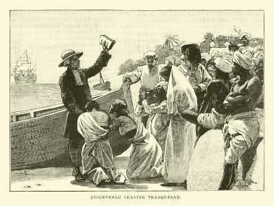 Ziegenbalg Leaving Tranquebar--Giclee Print