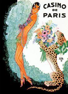 Josephine Baker: Casino De Paris by Zig (Louis Gaudin)