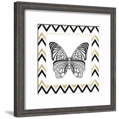 Zig Zag Butterfly 3-Kimberly Allen-Framed Art Print