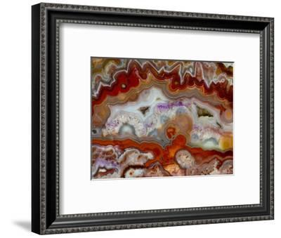 Zig Zag Pattern Crazy Lace Agate-Darrell Gulin-Framed Photographic Print