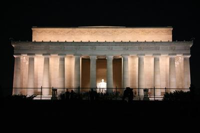Abraham Lincoln Monument at Night, Washington DC
