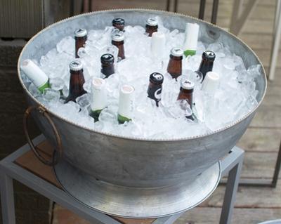 Zinc Champagne Bowl