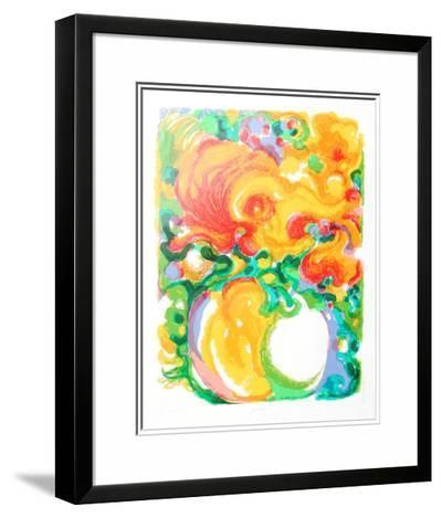Zinnias-Ronald Julius Christensen-Limited Edition Framed Print