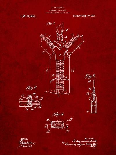 Zipper 1917 Patent-Cole Borders-Art Print