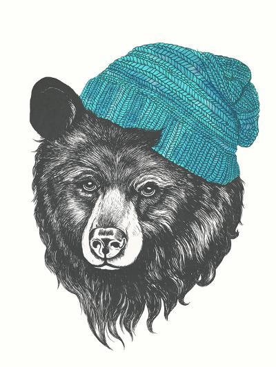 Zissou The Bear Blue-Laura Graves-Art Print