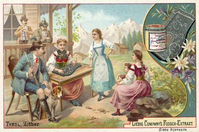 Zither, Tyrol--Giclee Print