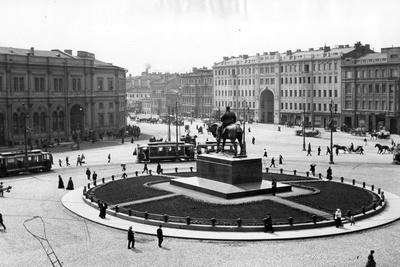 Znamemskaya Square, St Petersburg, C.1910--Photographic Print