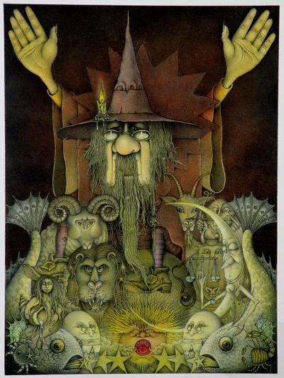 Zodiac Magician-Wayne Anderson-Giclee Print