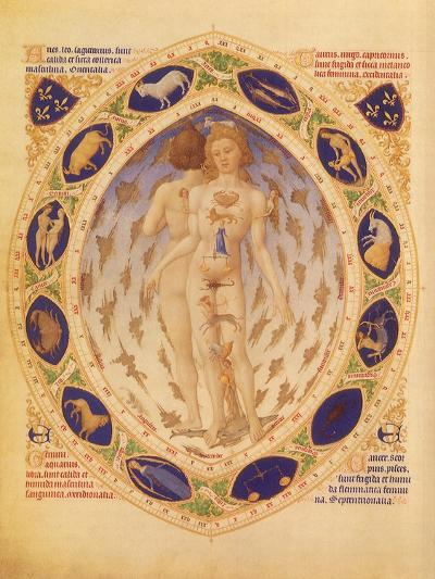 Zodiac Man and Signs, 1416--Giclee Print