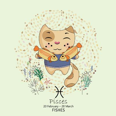 Zodiac Sign - Pisces-Tatsiana Tsyhanova-Art Print