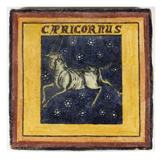 Zodiac Tile / Capricorn--Giclee Print