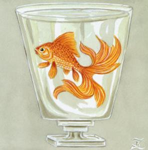 Whimsical Goldfish IV by Zoe Beresford