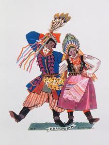 Krakowiak, Tance Polskie, 1927 by Zofia Stryjenska