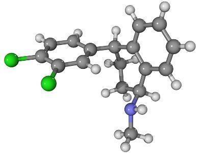 Zoloft Antidepressant Drug Molecule-Laguna Design-Photographic Print