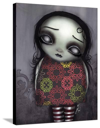 Zombie Girl-Abril Andrade-Stretched Canvas Print