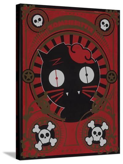 Zombie Kitty- Anthem-Stretched Canvas Print