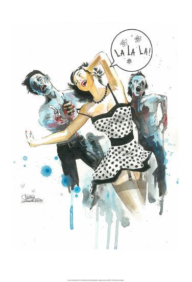Zombie Love-Lora Zombie-Art Print