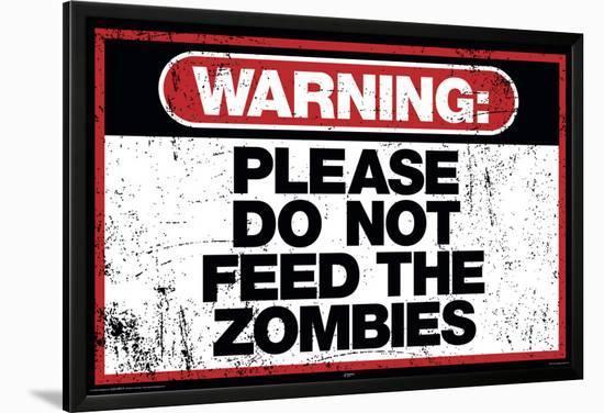 Zombie Warning--Lamina Framed Poster