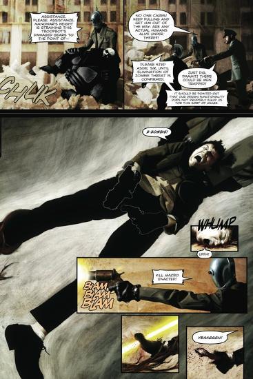 Zombies vs. Robots - Comic Page with Panels-Menton Matthews III-Art Print