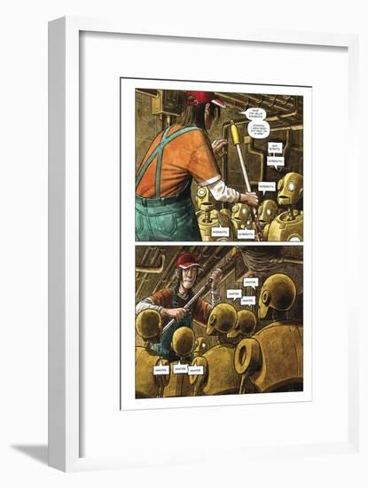 Zombies vs. Robots - Comic Page with Panels-Paul McCaffrey-Framed Art Print