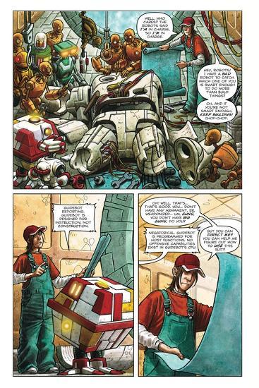 Zombies vs. Robots - Comic Page with Panels-Paul McCaffrey-Art Print