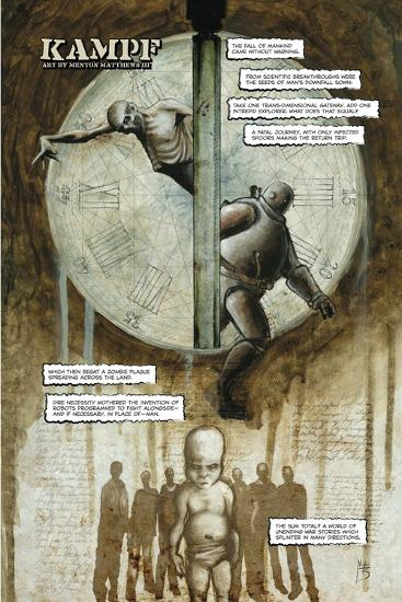 Zombies vs. Robots - Full-Page Art-Menton Matthews III-Art Print