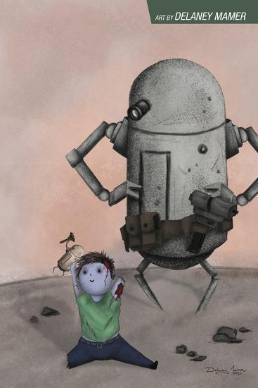 Zombies vs. Robots: No. 10 - Bonus Material-Delaney Mamer-Art Print