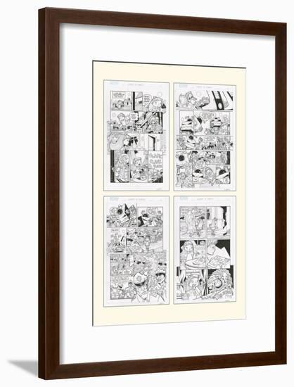 Zombies vs. Robots: No. 10 - Bonus Material-Nico Pena-Framed Art Print