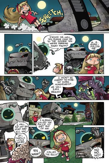 Zombies vs. Robots: No. 10 - Comic Page with Panels-Nico Pena-Art Print
