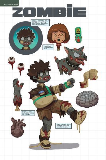 Zombies vs. Robots: No. 7 - Bonus Material-James McDonald-Art Print