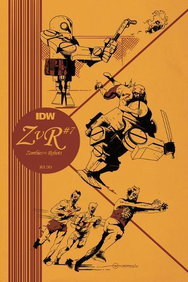 Zombies vs. Robots: No. 7 - Cover Art-Mark Torres-Art Print