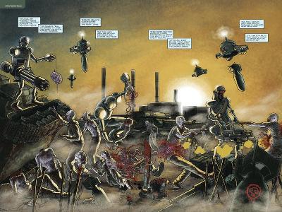 Zombies vs. Robots: No. 7 - Page Spread-Valentin Ramon-Art Print
