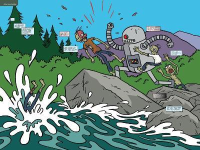 Zombies vs. Robots: No. 7 - Page Spread-James Kochalka-Art Print
