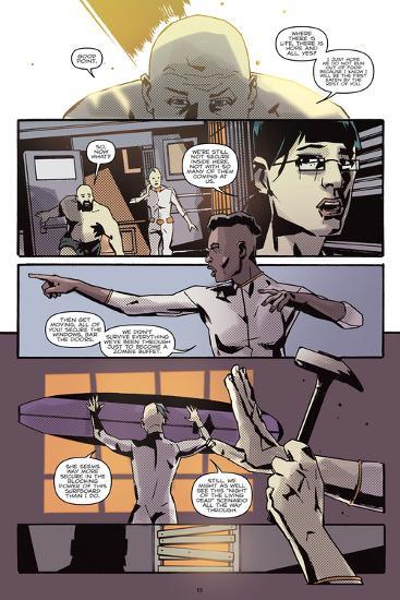 Zombies vs. Robots: No. 9 - Comic Page with Panels-Antonio Fuso-Art Print