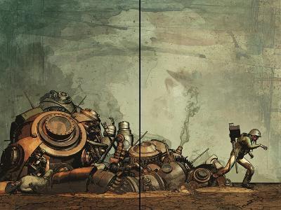 Zombies vs. Robots: Undercity - Page Spread-Fabio Listrani-Art Print