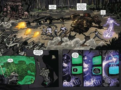 Zombies vs. Robots: Volume 1 - Page Spread with Panels-Anthony Diecidue-Art Print