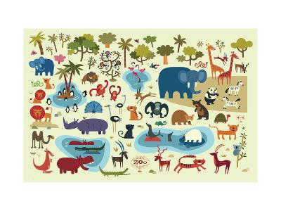Zoo Animals--Art Print