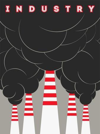 Retro Typographical Industry Illustration