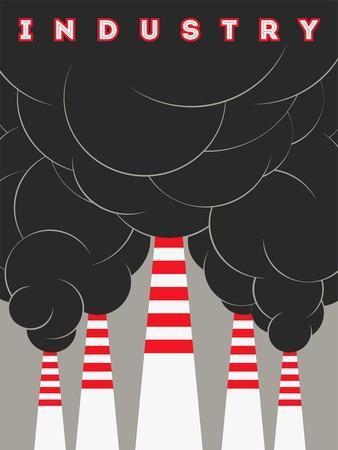 Retro Typographical Industry Illustration