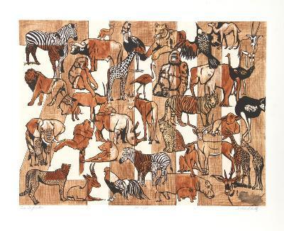 Zoo Composition-Caroline Schultz-Collectable Print