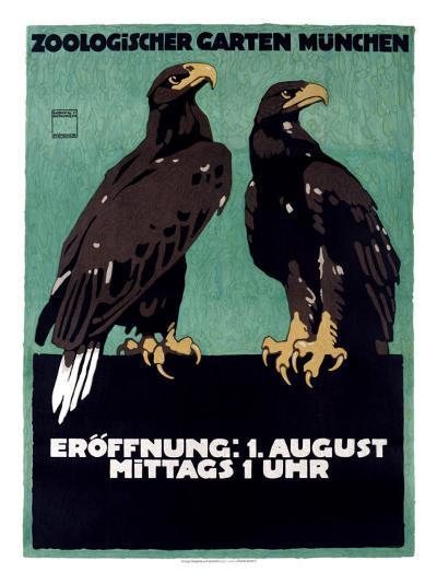 Zoo-Ludwig Hohlwein-Giclee Print