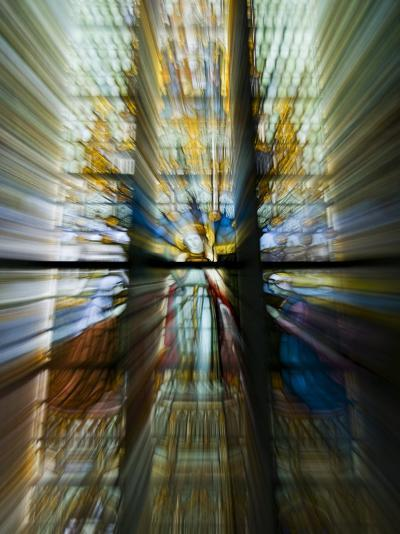 Zoom Special Effect of a Church Stained Glass Window-Mattias Klum-Photographic Print