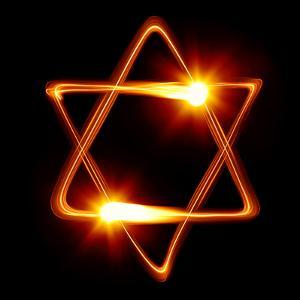 Star of David Created by Light by Zoom-zoom