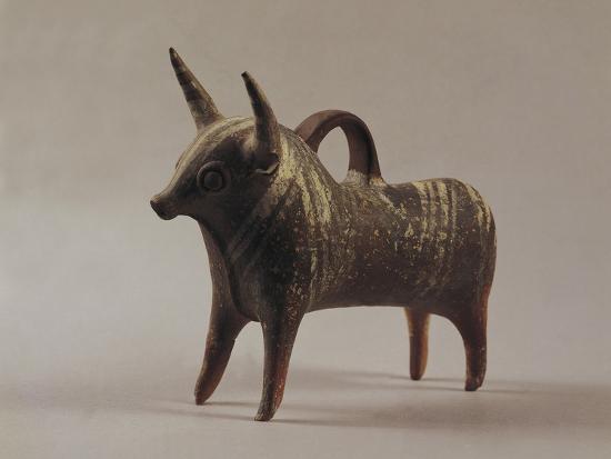 Zoomorphic Terracotta Vase from Ugarit--Photographic Print