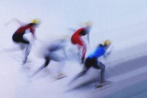 Speed Skating 1 by Zoran Milutinovic